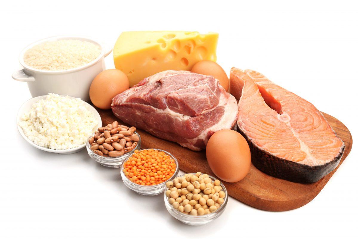 מזון עשיר בחלבונים: בשר, דגים, קטניות וביצים