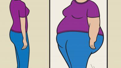 אישה רזה שחושבת שהיא שמנה